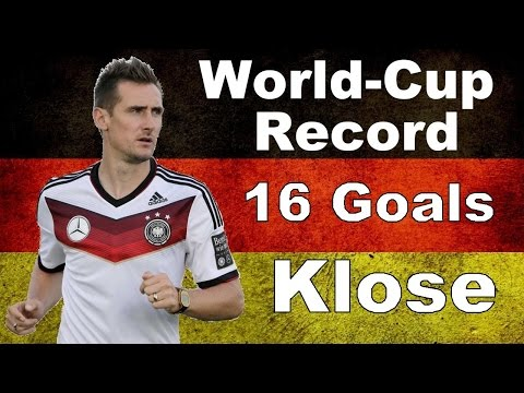 KLOSE ► All 16 World Cup GOALS ◄ RECORD ► ✔ ◄ GERMANY ► ★★★★