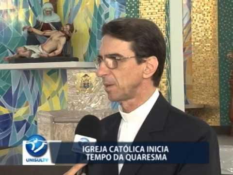 Igreja católica inicia tempo da quaresma