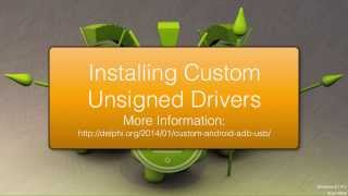 Install Unsigned Drivers On Windows 8.1