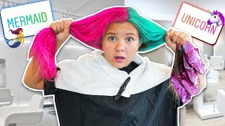 FiRST TiME DYING MY HAiR! 🧜🏻♀️ iNSTAGRAM controls my hair color!!