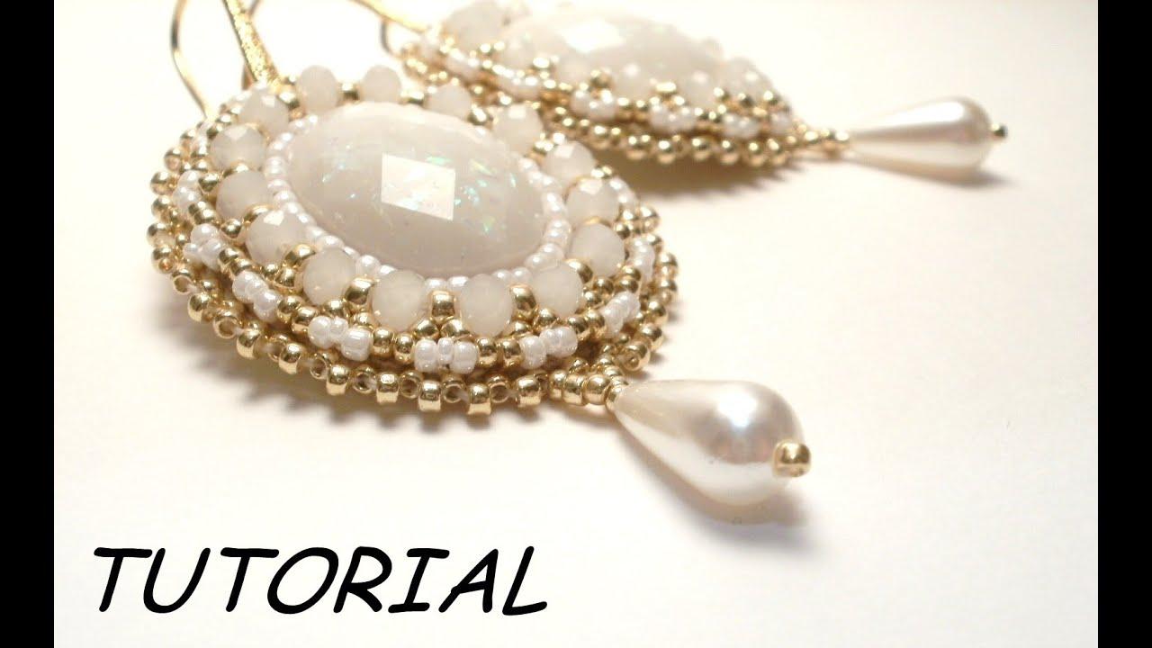 Tutorial orecchini embroidery bead