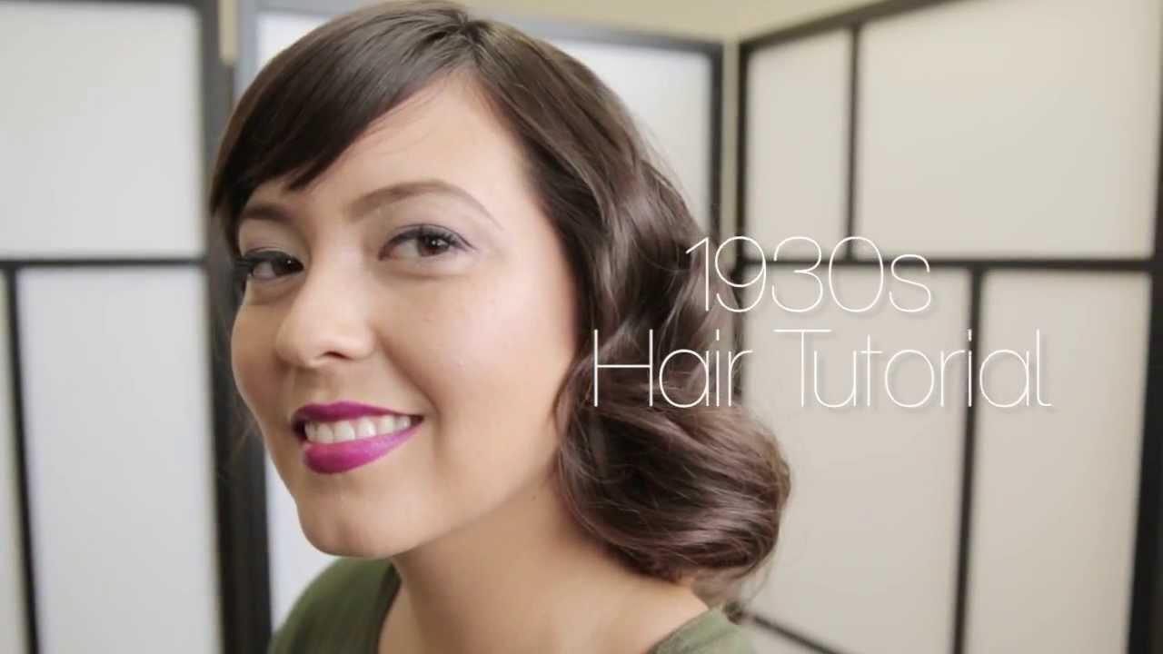 1930s Hair Tutorial - YouTube