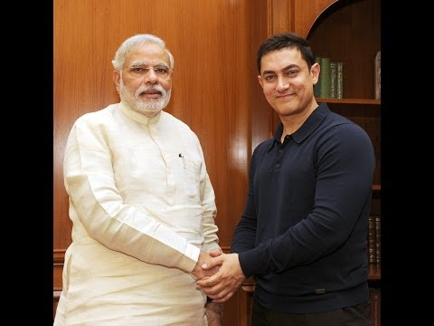 Actor Aamir Khan calls on the PM Narendra Modi