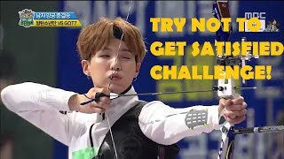 [EM-T] Moment Kpop idols hit 10 point in archery (TRY NOT TO GET SATISFIED CHALLENGE)
