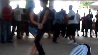 IDANIRA Y GIA (HECTOR) BAILANDO EN LA PLYA DORADO