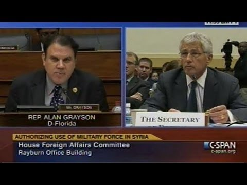 Grayson Questions Kerry, Hagel, Dempsey on U.S. Military Intervention in Syria