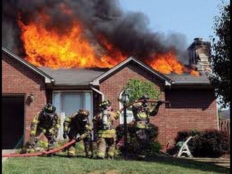 House fire damage inside