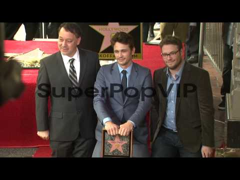 James Franco, Seth Rogen and Sam Raimi at James Franco Ho...