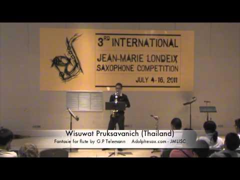3rd JMLISC: Wisuwat Pruksavanich (Thailand) Fantasie for flute by G.P. Telemann