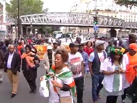 EXCLUSIF MARCHE DES PRO GBAGBO A PARIS DE STALINGRAD A CHÂTEAU ROUGE