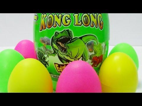 Bóc trứng khủng long trò chơi với nhiều loài và màu sắc - Dinosaur surprise eggs