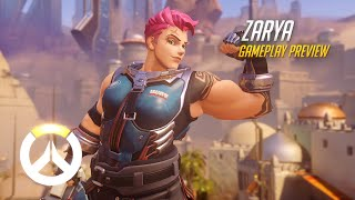 Overwatch: Zarya Gameplay Preview