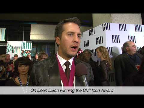 Luke Bryan on Dean Dillon-s Partnership with George Strait at the 2013 BMI Country Awards