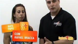Prof. Rafael Bracca e a atleta Celia Portella comentam sobre a matéria da Record