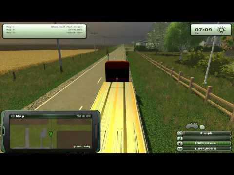 Farming Simulator 2013 Mods - Semi Trailers Flatbeds, Modern American Map.