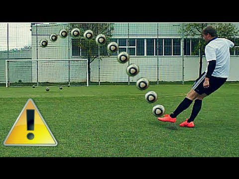 Cristiano Ronaldo Dip Tutorial Schusstechnik 2012 | How To Shoot A Topspin | Deutsch