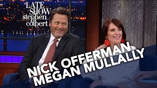 Nick Offerman And Megan Mullally Decide Their Celebrity Couple Name