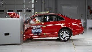 Mercedes C serisi kenardan çarpma testi - IIHS 2013