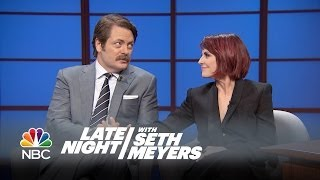Megan Mullally Serenades Nick Offerman with a Romantic Rap Song