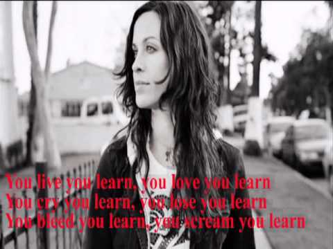 ALANIS MORISSETTE - YOU LEARN LYRICS