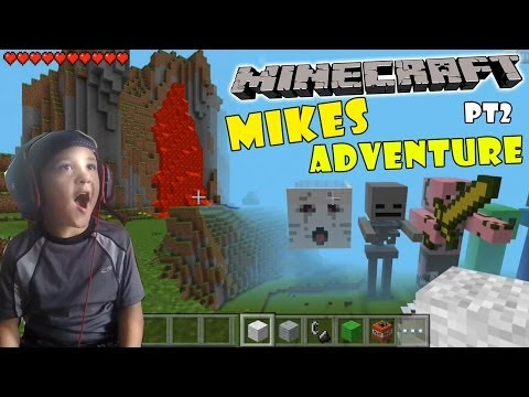 Mikes Minecraft Adventure pt 2 The Lava Seed - w/ Face / Scare Cam (5 Year Old, iOS Gameplay)