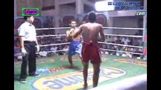 Myanmar Lethwei (blue) VS Muay Thai : No Name (red)