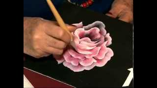 Como Pintar Una Rosa Hojas Pinceladas PIntura