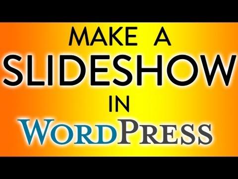 Wordpress 3 - Make A Slideshow