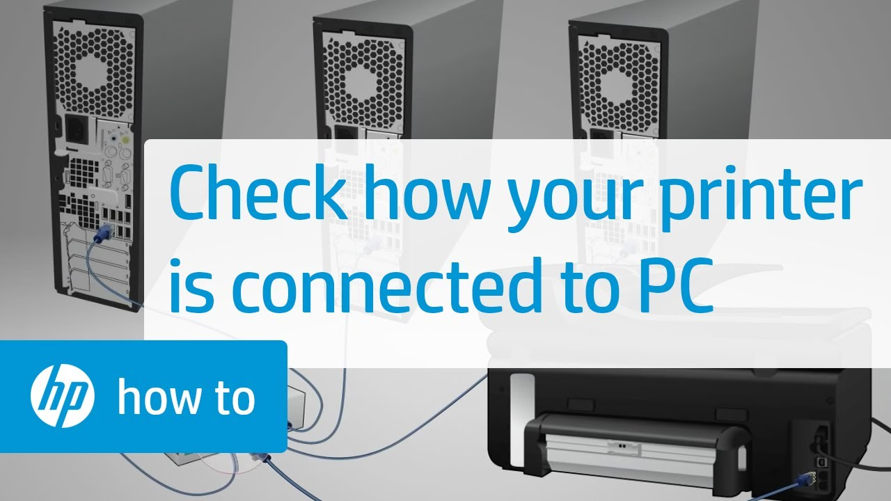 how to connect your hp ptinter to your computer
