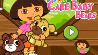 Dora The Explorer Taking Care Of Baby Bears Game
