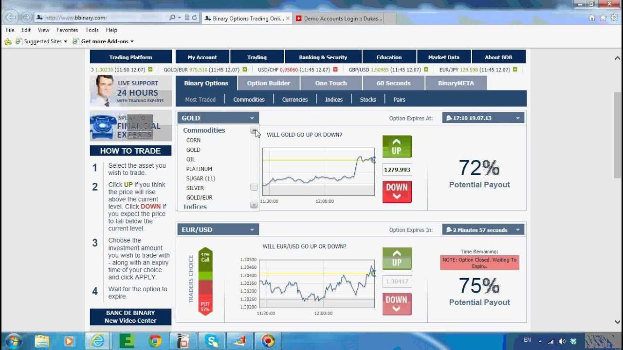 Demo account binary options 60 seconds typ