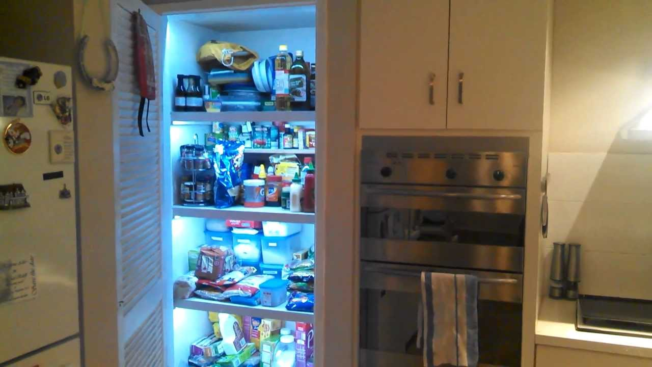Diy Automatic Led Strip Lights In My Pantry Youtube