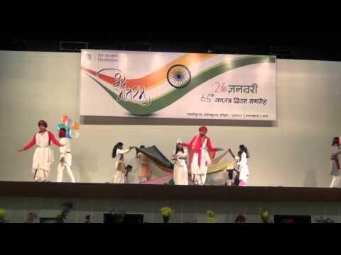 26 Jan 2014 Cultural Celebration Aisa desh hai Ab ke baras By DSVV Sanskriti Kalaa Group film by awg