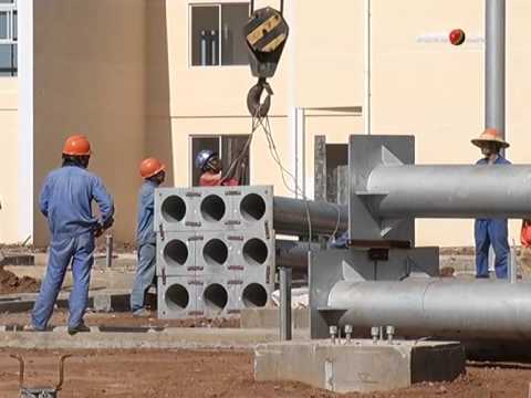 Angola Magazine -Benguela- Construção de um posto de seccionamento