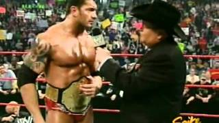 Batista And Jim Ross Interview RAW 4 11 2005 Video