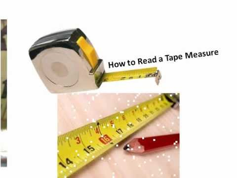 Reading a tape measure youtube for How to read measurements