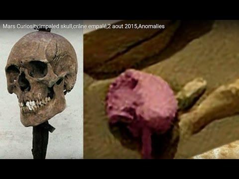 Mars Curiosity,impaled skull,crâne empalé,2 aout 2015,Anomalies