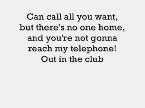 Lady Gaga ft. beyonce- Video phone (Telephone) , Lyrcis