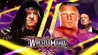 WWE Wrestlemania 30 - The Undertaker vs Brock Lesnar - Full Match HD