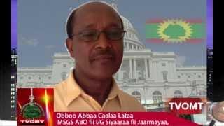 TVOMT: Gaafif Deebii Obboo Abbaa Caalaa Lataa, MSG ABO Waliin Goone Hordofaa