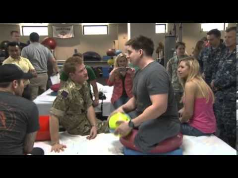 Prince Harry meets injured US servicemen at military hospital