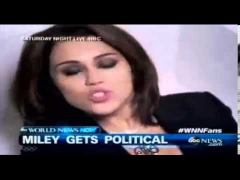 Miley Cyrus SNL Saturday Night Live Government Shutdown spoof Michelle Bachmann Wrecking Ball
