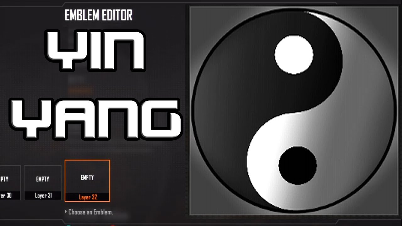 advanced warfare easy yin yang emblem tutorial black
