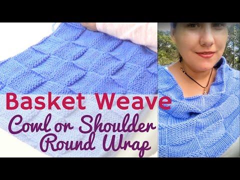 Basket Weave Cowl or  Shoulder Shrug