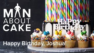 (man about) JJR's Candy Land Birthday Cake | Man About Cake with Joshua John Russell