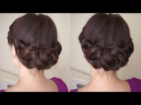 Spring Braided Flower Hair Tutorial, For more hair tutorials and updates: Please visit My Facebook Page: http://www.facebook.com/CinthiaTruong My Blog: http://www.EbeautyBlog.com