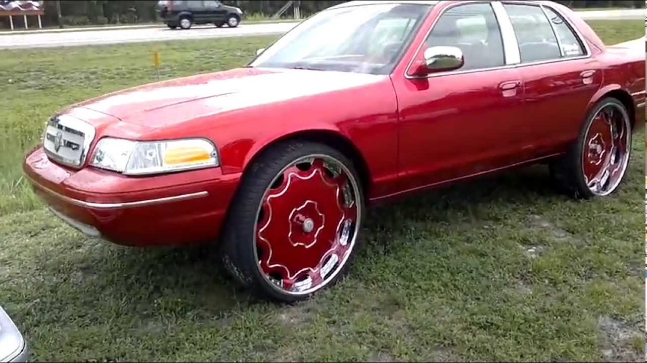 Candy Red Ford Crown Victoria on 28