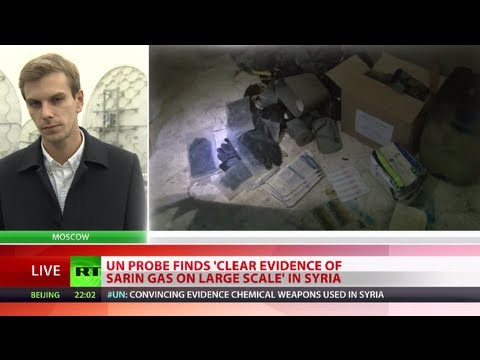 UN probe finds 'clear evidence of sarin gas on large scale' in Syria