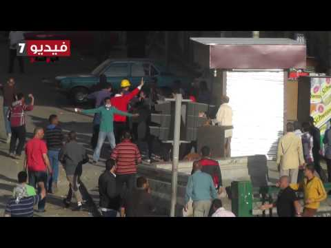 Muslim Brotherhood members chasing girls with ston