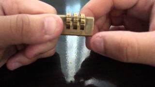 Abrir un candado de combinación sin la clave